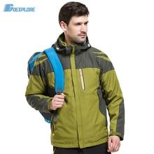 Winter Men Fleece Windbreaker Outdoor Sport Hooded Windproof Waterproof Warm Cycling Hiking Camping Climbing Jacket