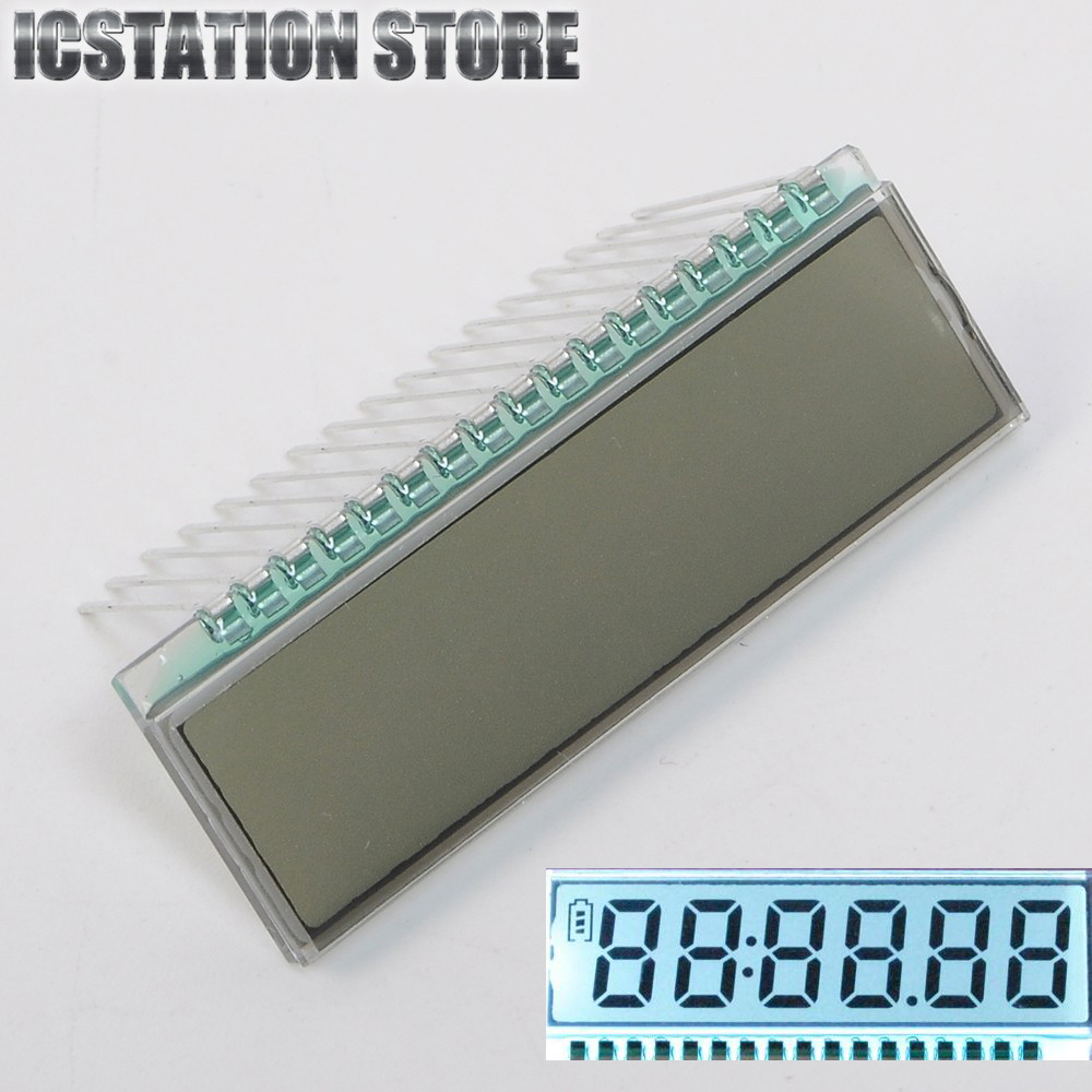 GDC0570 17PIN TN Positive 6 Digit 7 Segment Dynamic Driving LCD Display Panel Module 3V 40*14*2.8mm(Without LED Backlight) 100 pcs ld 3361ag 3 digit 0 36 green 7 segment led display common cathode