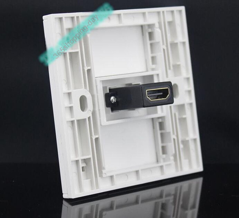 HDMI wall plate with backside female to female connector support 3D and 4K