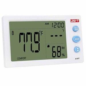 Image 4 - UNI T A10Tデジタルlcd温度計湿度計クロック湿度計ウェザーステーションのテスターとアラーム時計機能