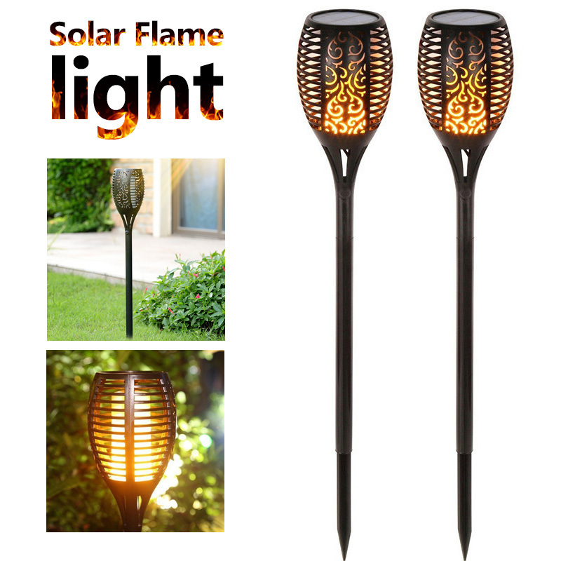 Flame Solar Lamps Flickering Garden Lights Torch Light Waterproof Solar Outdoor Lawn Lamp Landscape Decor Path Lighting
