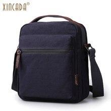 XINCADA Mens Bag Messenger Canvas Shoulder Bags Travel Man Purse Crossbody Sling Pack for Work Business Sumka