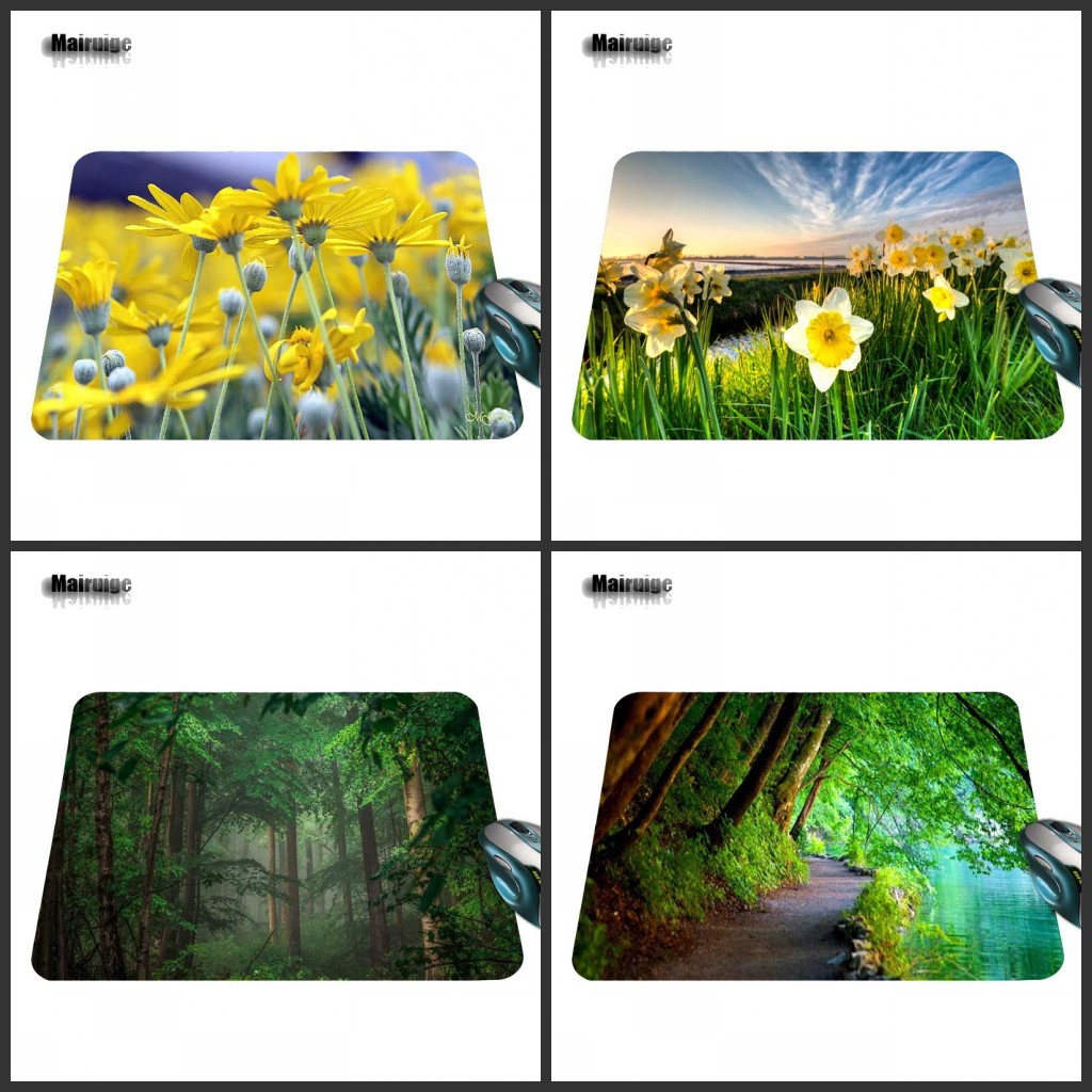 Mairuige Boy Gift Pad Tree Flowers Large Field for PC Computer Mouse Pad Mat Gaming Mouse Pads Rectangle Mat