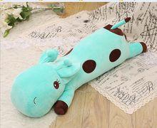 small cute stuffed cartoon spots giraffe toy plush blue giraffe pillow gift about 60cm