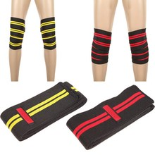 Aolikes Knee Ankle Support Power Lifter Weight Lifting Knee Wraps Gym Training Fist Straps Sports Bandage
