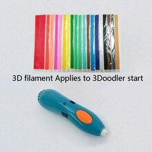 Прямые 3D нити Совместимость с 3doodler начать 3D ручка, Эко-пластиковые нити Замена для 3doodler начать пластиковые вкладыши