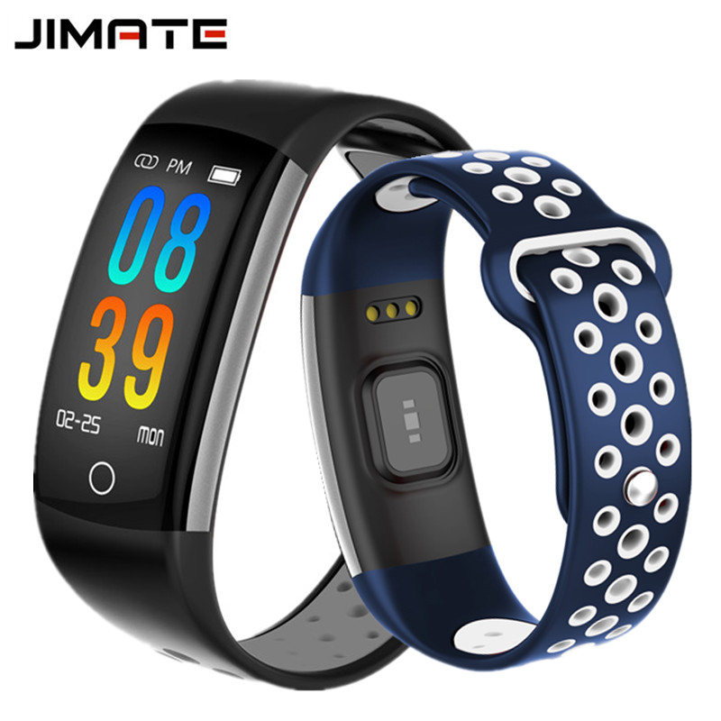 Color Screen Smart Band IP68 Waterproof Fitness Tracker HR Monitor Message Reminder Smart Bracelet Double Color Strap Wristband