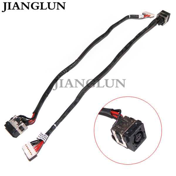 JIANGLUN 5X New DC Power Jack With Cable Harness For Dell