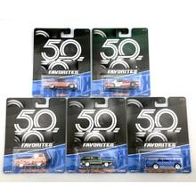 العجلات الساخنة 1:64 سيارة رياضية تشيفي فورد 50th الذكرى جامع الطبعة المعدنية ديكاست نموذج سيارة لعب الاطفال
