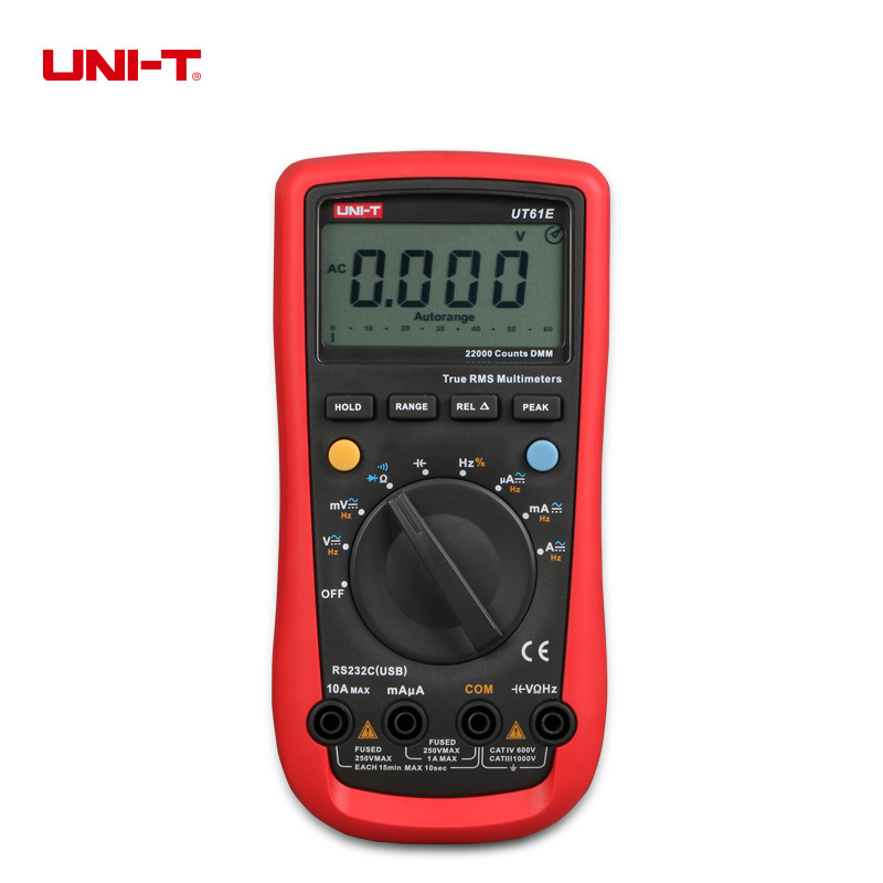UNI-T UT61E Modern Digital Multimeters Auto Range True RMS Voltage Current,Resistance,Capacitance Tester uni t ut61a b c d e counts digital multimeter with auto range dc ac voltage current ohm capacitance diode true rms