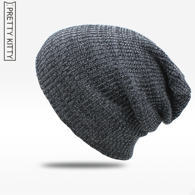 2017 Warm Winter Beanies For Men Knit Hat Men's Winter Hats For Men women Brand Bonnet Skullies Baggy Balaclava Caps [cosplacool]knitted letter skullies bonnet winter fleece beanies hat for men women hats warm baggy