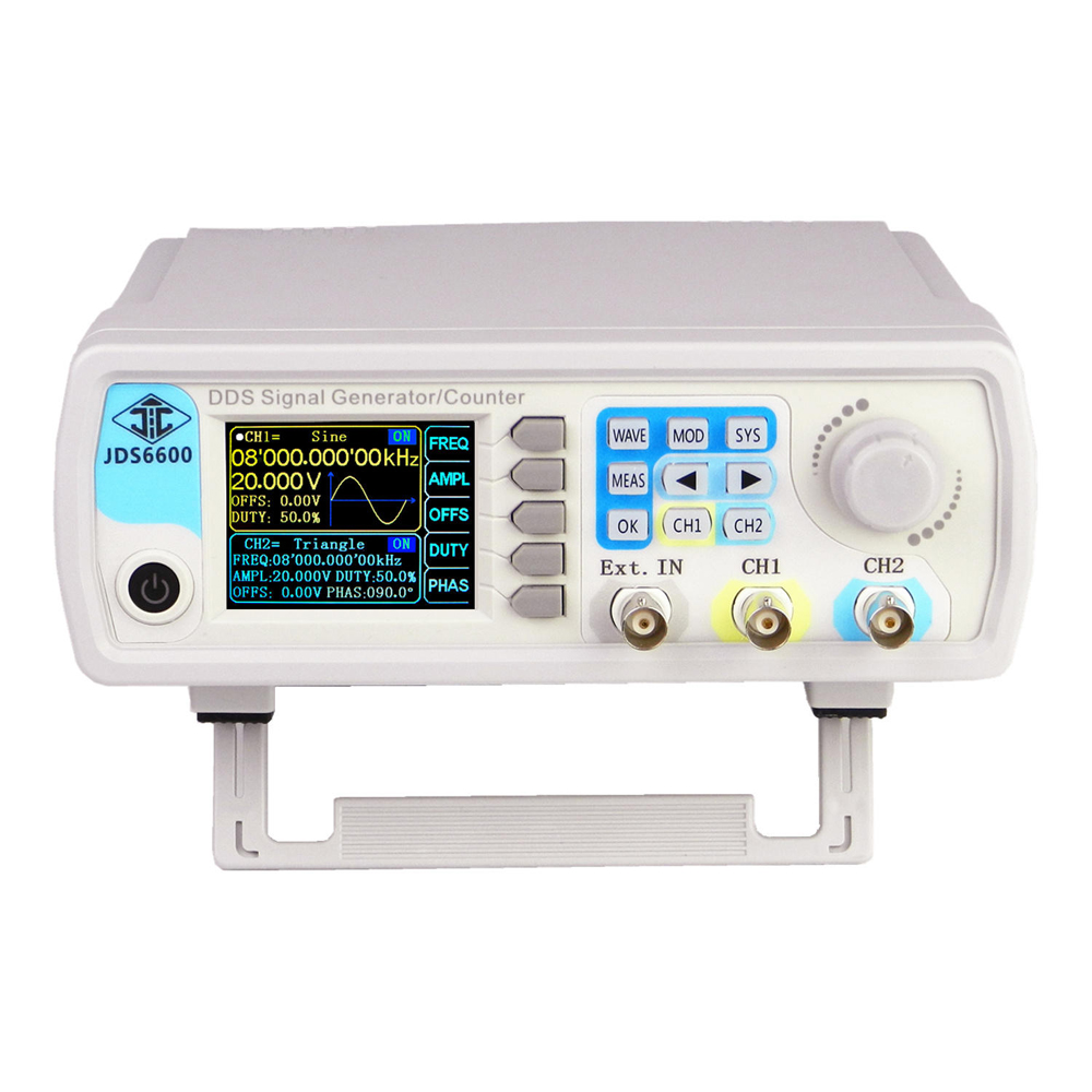 JDS6600 Signal Generator Function Generator Digital Control Dual-Channel DDS Arbitrary Sine Waveform Pulse Frequency Meter hot selling signal generator rigol dg1022u updated from dg1022 2 channel 25 mhz function waveform signal generator