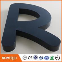 Заказ 3D из нержавеющей стали письма знак письма металла