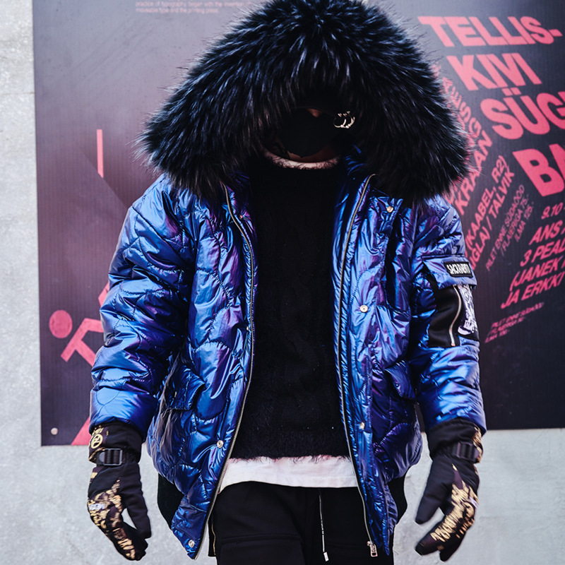 Hommes hiver épaissir chaud lâche décontracté coton rembourré manteau mâle mode Hip Hop Streetwear à capuche Parkas veste pardessus-in Parkas from Vêtements homme    1