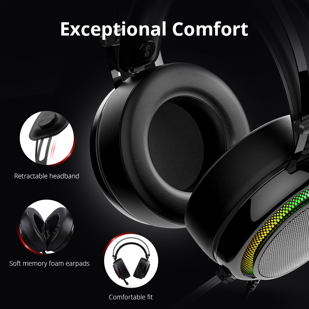 Tronsmart Glary Gaming Headset ps4 headset Virtual 7.1,USB Interface Gaming Headphones for ps4,nintendo switch,Computer,Laptop 4