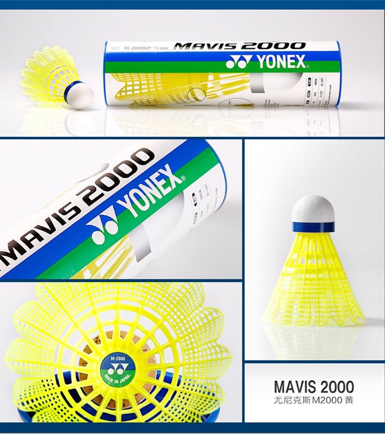 YONEX Mavis 2000 Badminton navettes-Tube de 6 volants