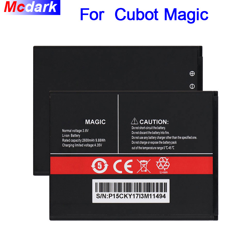 Mcdark 2800mAh Battery For Cubot Magic Batterie Bateria Accumulator AKKU ACCU PIL Mobile Phone