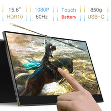 """8000mAh Battery Built in 15.6"""" 1080P HDR10 Touch Monitor For PS4 Switch XBOX NS Portable Laptop Computer Monitor PC"""