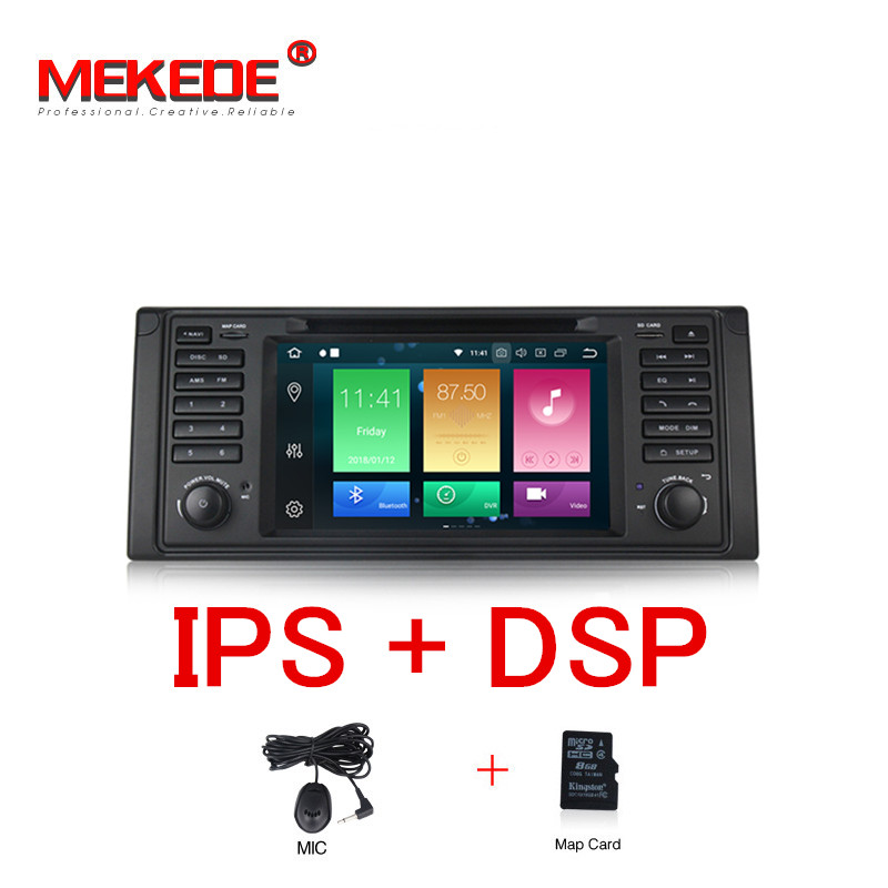 MEKEDE PX5 7HD IPS 8 Core Android 8.0 GPS Navigation Car DVD Player for BMW E39 5 Series/M5 1997-2003 with DSP RDS Canbus