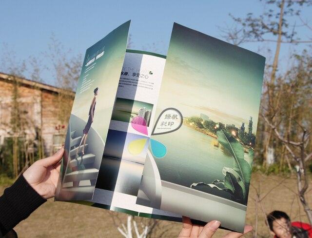 Kundenspezifische Schließen Falten Broschüre/Flyer Druck Werbung ...