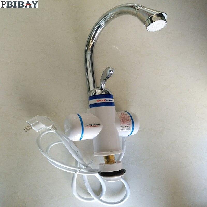 W818-5,3000W Instant Hot Water Faucet,Electric Instant Water Heater,Tap Kitchen Electric Hot Water Tap,Heating Faucet EU Plug