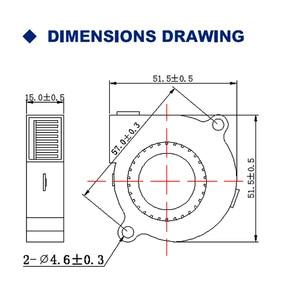 Image 5 - 2 шт. Gdstime 5015 50 мм DC 24 в 12 В 5 в 2 контактный шариковый подшипник Бесщеточный Охлаждающий турбинный вентилятор 50 мм x 15 мм вентилятор охлаждения вентилятор