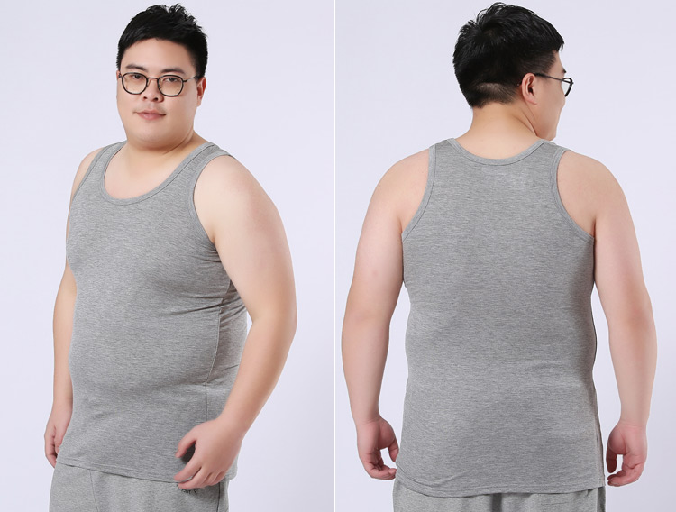 ddcf1eec4e51c6 Aliexpress.com   Buy 2018 new Men Sleeveless Shirt cotton white grey Shirt  Top Singlet Tee Vest Tank Tops Plus size 4XL 5XL 6XL from Reliable Tank Tops  ...