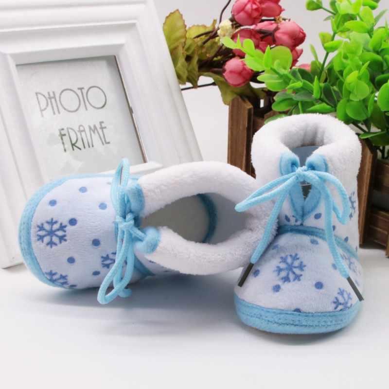 Moda Çocuk bebek çizmeleri 2018 Yeni Sıcak Bebek Ayakkabı Yenidoğan Bebek Erkek Kız Kış Sonbahar Kalın Sıcak Kar Botları E1