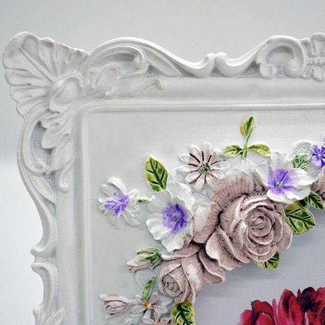 Online Shop Giftgarden 4x6 Rustic Picture Frame Rose Decor White ...