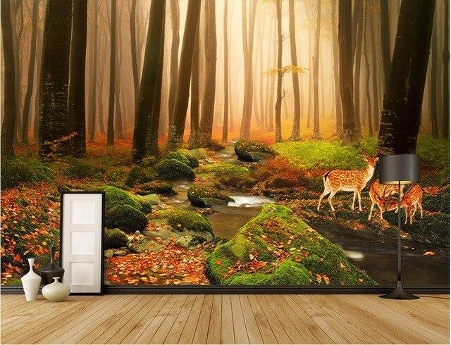 3d wallpaper custom photo non woven mural The primeval forest deer