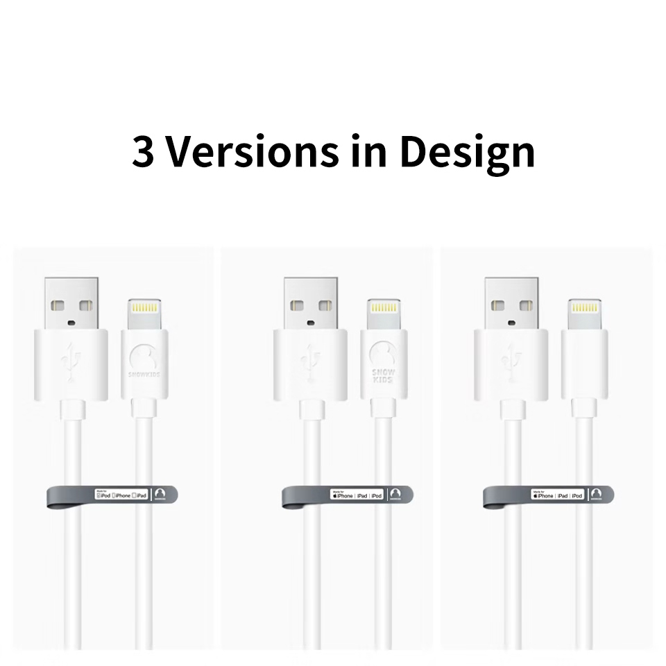 Snowkids MFi Cable for iPhone 5 6 7 8 X XR XsMax  for Lightning to USB Data Sync Charger  Compatible iOS12   Data Sync 5pcs