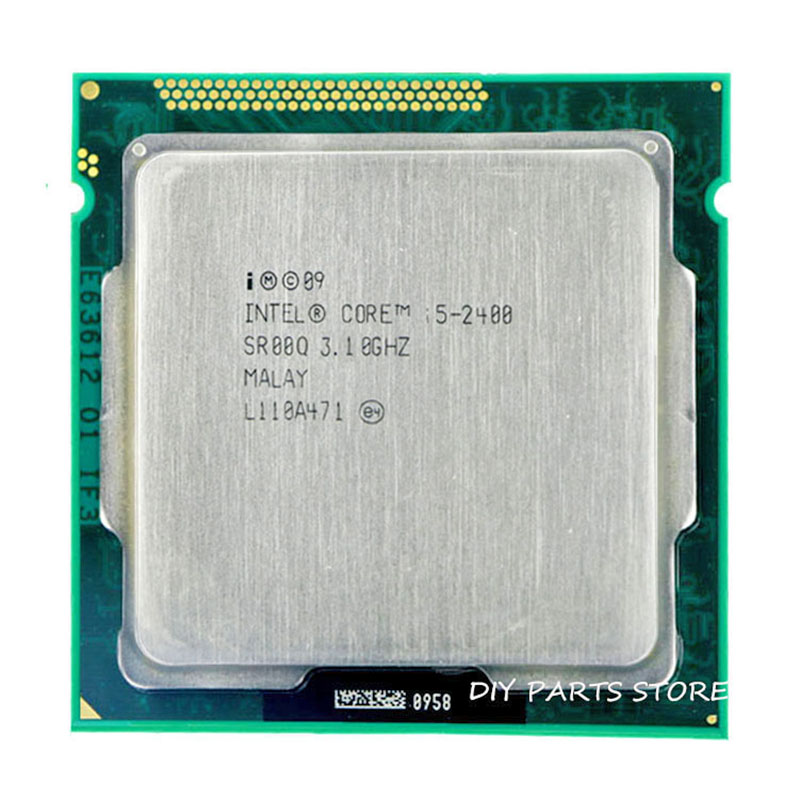 Intel Core i5 2400 i5-2400 3.1GHz/ 6MB Socket 1155 CPU Processor  HD 2000 Supported memory: DDR3-1066, DDR3-1333 процессор intel pentium g620 cpu 1155 h61
