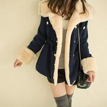 Women's Warm Winter Faux Fur Hooded Warm Coat Overcoat Long Jacket Outwear