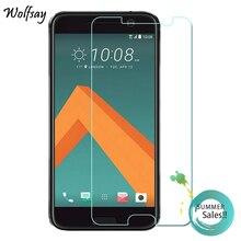 цена на 2pcs Glass For HTC 10 M10 Screen Protector Tempered Glass For HTC 10 M10 Glass For HTC One 10 Protective Film Wolfsay
