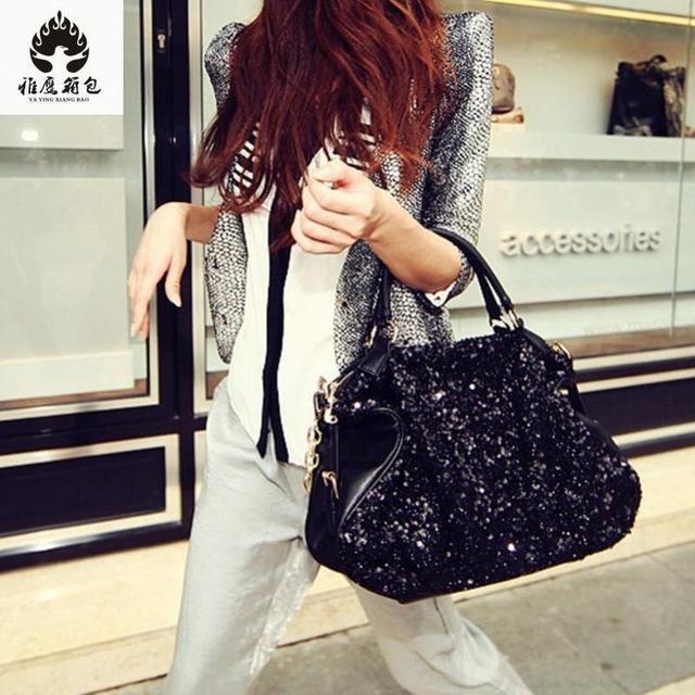2018 New Fashion Soft Pu Leather Women S Handbag Las Shoulder Tote Messenger Bag Purse Satchel Black