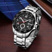 CURREN Mens Watches Top Brand Luxury Military Watch Full Steel Men Sports Watches Waterproof Wristwatches Relogio