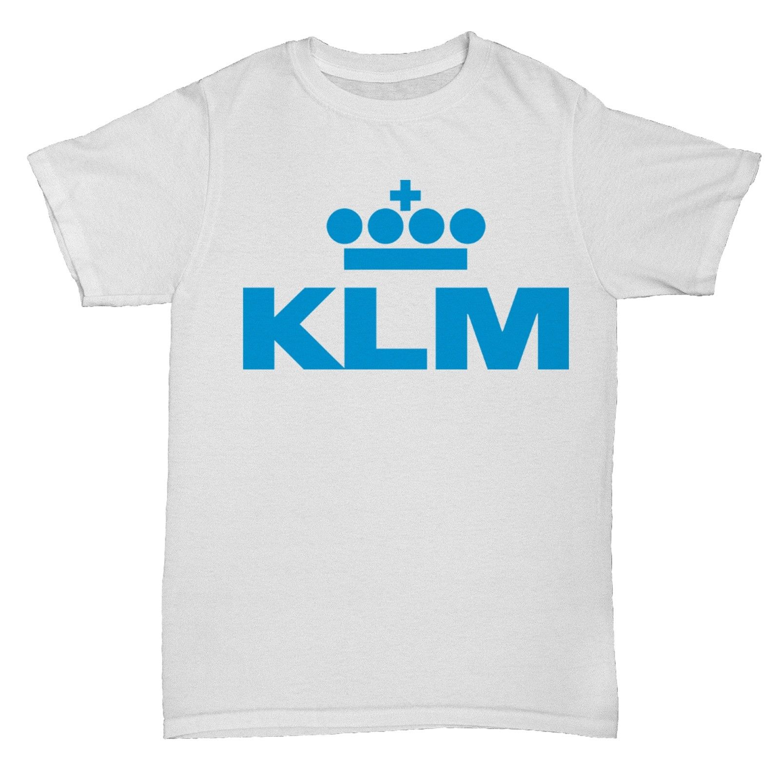 KLM AIRLINES RETRO AEROPLANE BOAC PAN AM T SHIRT Black Cotton T-Shirt Top Tee Cartoon Ch ...