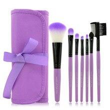 1 Set/7 PCS Wood Makeup Brush Set Professional Cosmetics Brand Makeup 2016  Brush Tools Foundation Brush For Face Beauty