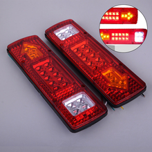 DWCX 2pcs Left + Right 12V DC 19 LED Red Car Tail Stop Turn Light Indicator Reverse Lamp For Trailer Truck Utes Boats Caravans цена