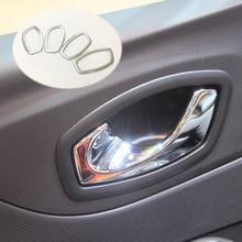 For Renault Captur 2013 2018 ABS chrome door inner built handle bowl frame lamp moulding cover