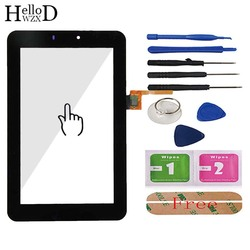 Front Touch Glass Screen Digitizer Panel Lens Sensor For Huawei MediaPad 7 Youth S7-701 S7-701u S7-701w HMCF070-0880-v5 Adhesive