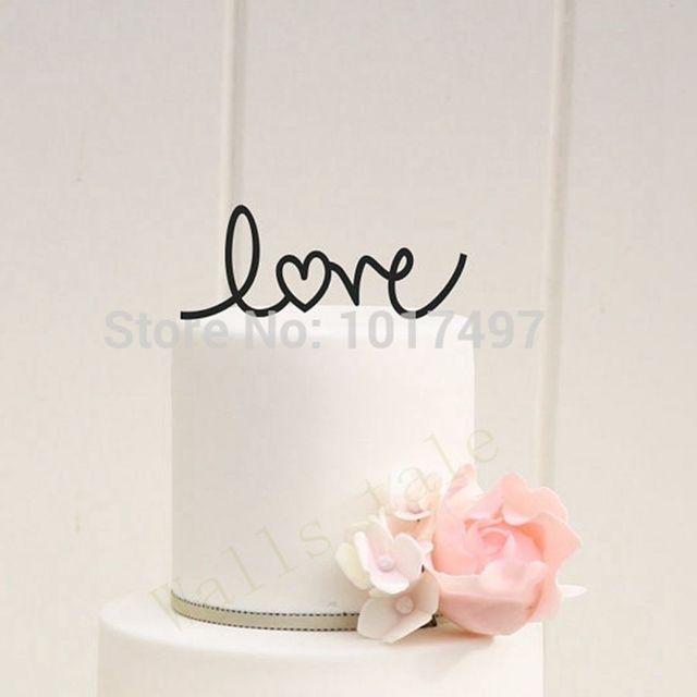 wedding cake decor love with heart wedding cake topper acrylic