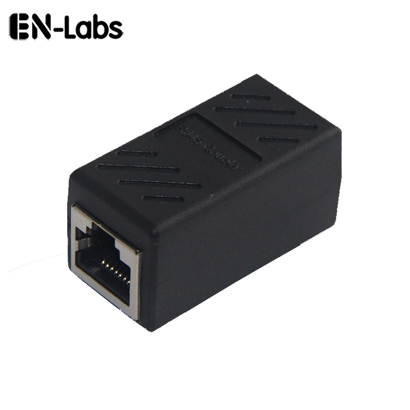 En-Labs RJ45 Lan Female Coupler Install Adapter,Cat6 7 5E Network Cable Shield SSTP RJ-45 Connector Extender Colorful Plug rj45 female to female network ethernet lan connect adapter coupler extender ethermet cable connector black