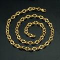 Homens Colar de Ouro de Jóias Por Atacado do vintage, New Gothic Banhado A Ouro 7 MM Chunky Curb Chain link Cubano Colar
