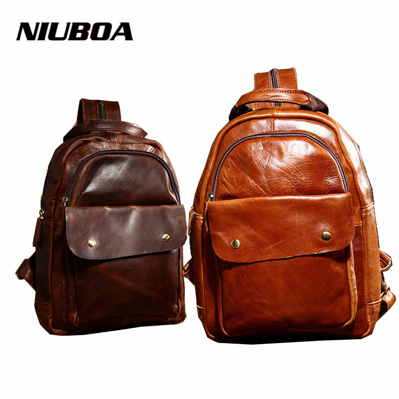 100% Genuine Leather Women Backpacks Natural Cowhide Girl School Bag Lady Retro Crazy Horse Mult Function Lady Shoulder Backpack hot sale women s backpack the oil wax of cowhide leather backpack women casual gentlewoman small bags genuine leather school bag