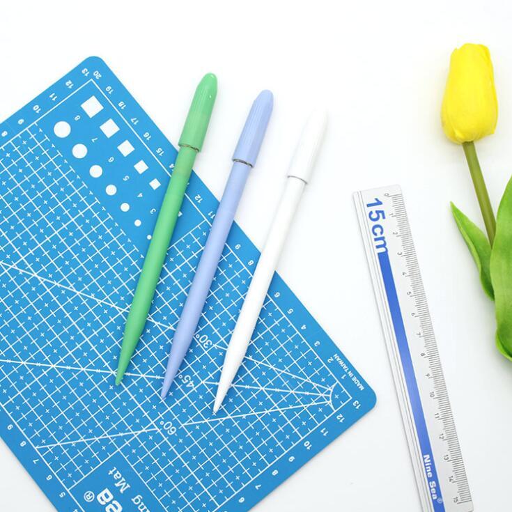 a5 corte pad set pad gravura esculpida caneta faca regua de aluminio 3 pcs set