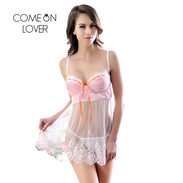Comeonlover Intimo Donna Sexy Hot With Sheer Bodice And G-string Porno Sexy Lingerie Plus Size Baby doll Sexy Lingerie RI80046 2
