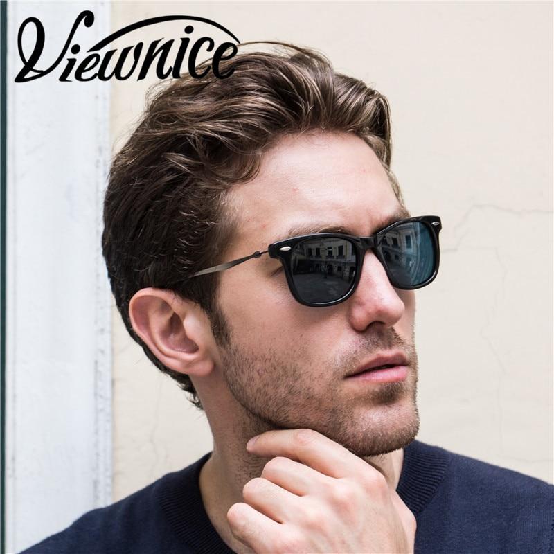 9ab8421f536 Viewnice Sunglasses Woman Luxury Fashion acetate Alloy Man Sun glass  Polarized sunglasses Male High quality HD anti UV400 4210-in Sunglasses  from Apparel ...