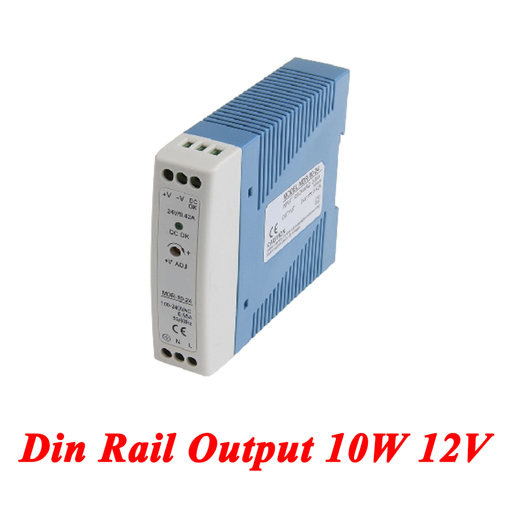 MDR-10 Mini Din Rail Power Supply 10W 12V 0.84A,Switching Power Supply AC 110v/220v Transformer To DC 12v,ac dc converter mdr 100 din rail power supply 100w 48v 2a switching power supply ac 110v 220v transformer to dc 48v ac dc converter