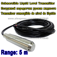 Submersible Liquid Level Transmitter Level Transducer Input Type Level Sensor 5M Range Suitable For Diesel With 6M Cable